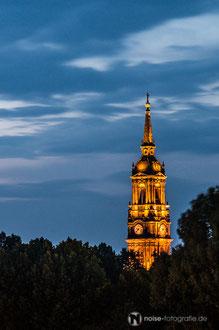 Dresden bei Nacht - Dreikönigskirche