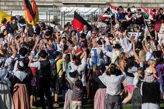 Abschlussveranstaltung der 50. Europeade in Gotha im Gothaer Volksparkstadion