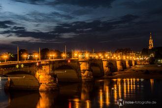 Dresden bei Nacht - Augustusbrücke