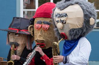 Sax Puppets – Straßenmusik/Walcact beim Gothardusfest 2014