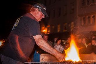 """Nachtglühen beim 16. Metallgestaltertreffen """"Gotha glüht"""" 2012"""