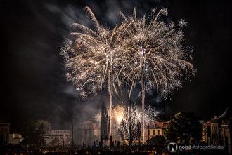 Höhenfeuerwerk über Schloss Friedrichsthal - Gothardusfest 2014