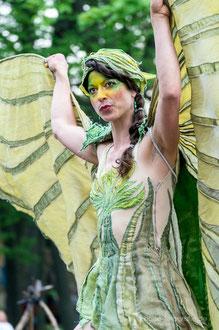 Mira Mas beim mittelalterlichen Blütenfest in Neufrankenroda 2014