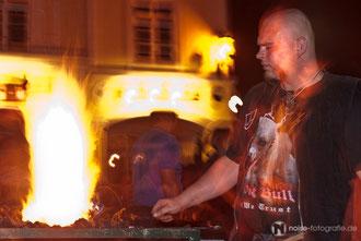 Nachtglühen beim 15. Metallgestaltertreffen - Gotha glüht 2011