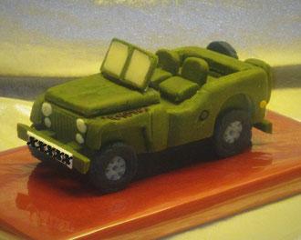 Marzipanauto Geländewagen