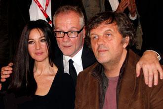 Emir KUSTURICA, Thierry FREMEAUX et Monica BELLUCCI - Festival Lumière 2012 © Anik COUBLE