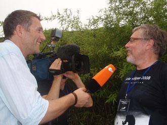 Herr Zekl wird interviewt