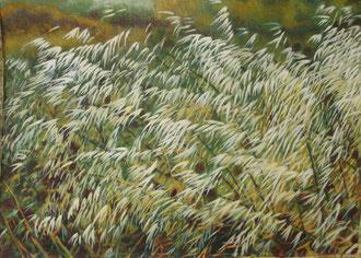 Avenas salvajes, Ost 110x70 Sylvie Berman artista pintora
