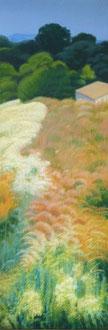Herbes pour les Nabis, H.s.t 110x50 Sylvie Berman artiste peintre