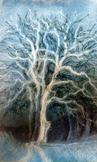 La nuit, pastel 29x39 - Sylvie Berman Artiste peintre