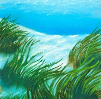 Submarine 1, pastel 20x20 Sylvie Berman artiste peintre