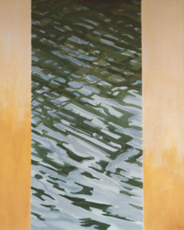 Great reflexion, Oil on canvas 180x90 Sylvie Berman artiste peintre