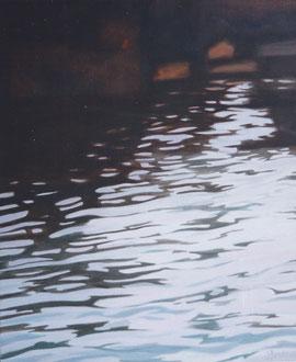 Reflejo, Cuerno de oro, Ost 130x90 Sylvie Berman artista pintora