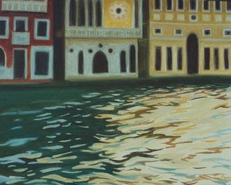 Reflet, Venise Hst  1110x75 ( vendu) Sylvie Berman artiste peintre
