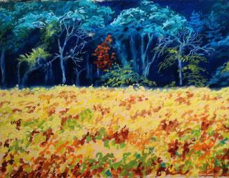 Automne, sortilège, pastel 22x16 Sylvie Berman artiste peintre