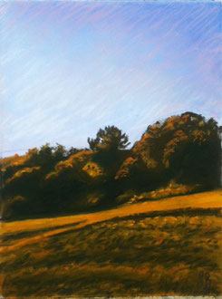 Dawn, pastel 11x9 Sylvie Berman artiste peintre