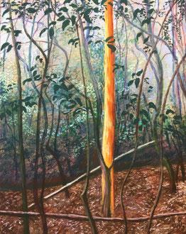 L'arbre doré,  Pastel 40x50 cm Sylvie Berman artiste peintre