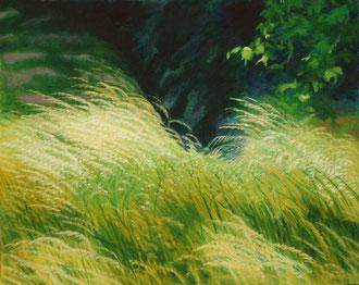 Le jour, H.s.t. 90x70   Sylvie Berman artiste peintre