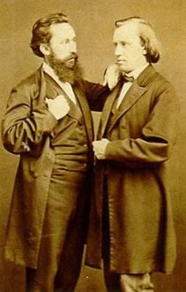 Brahms con el conductor Stockhausen.