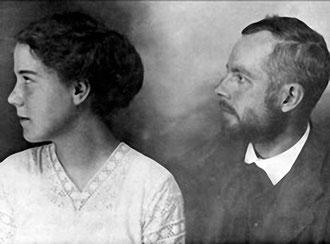 Bartók con su primer mujer, Márta Ziegler.