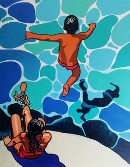 ESTAQUE - Acrylique sur toile 80 x 100 cm