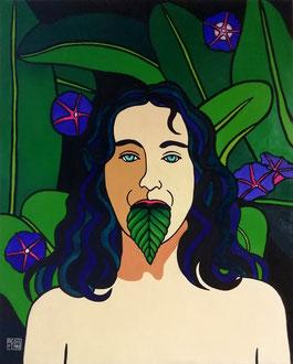 PALAVRA VERDE - Acrylique sur toile 73 x 92 cm