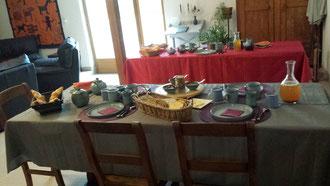 """¨Petit dejeuner chambre d'hôtes """"Au Pied du figuier"""" Pauligne-Limoux"""