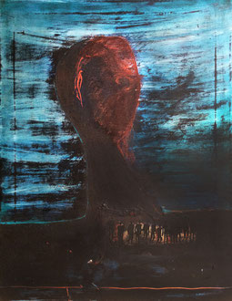 INNER VOICES - MIXED MEDIA ON CANVAS, 45 X 60 CM, 2015