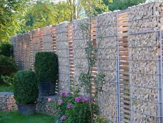 Garten  profi Gabionen günstig preiswert Zaun Zäune Zaunbau Metallbau Anlagenbau Balkone Metall Schlossere individuell Maß Stahl Stahlbau Einfassung