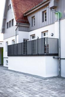 Einfassung Geländer Terrasse