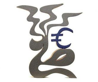Angie und die Frucht des Euros 37 x 15 cm