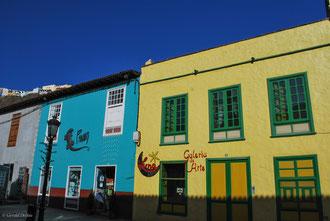 Maisons colorées sur l'île de la Gomera Archipel des Canaries