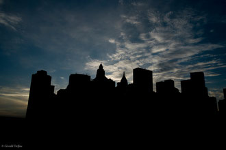 New York, Manhattan, les ombres des builidings