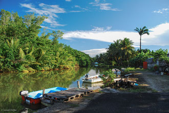 Guadeloupe, canal de Vieux-Bourg
