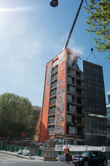 Paris XIII, tour des sablières, sa destruction en 2014