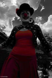 Haute-Garonne, Empeaux, Fête de juillet, Clown de la Cie Le Goupil