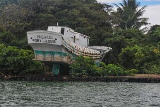 Ile Maurice, bateau en Carène dans le sud