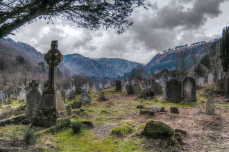 Irlande, Comté de Wicklow, cimetière