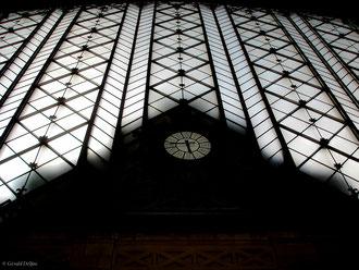 Madrid en Espagne, horloge de la Gare Atocha