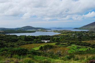 Irlande, Comté du Connemara, Clifden, Diamond Hill, vue sur la presqu'île et la sky road