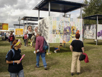 Exposition de peinture en pleine air, Fête de l'Humanité, La Courneuve