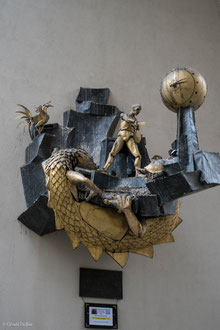 Paris, le Quartier de l'horloge, le Défenseur du temps