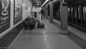 Métamorphosis dans le métro de New York