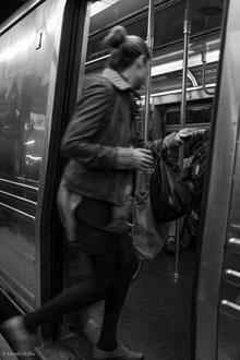 Le soir dans métro New York
