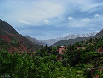 Vallée du Haut Atlas au Maroc