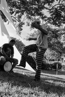 Guadeloupe, Port-Louis, Beauport, Jacky Jalème danse