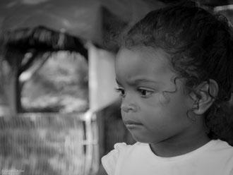 Guadeloupe, Port-Louis, Stage de Ka Bwa, petite fille