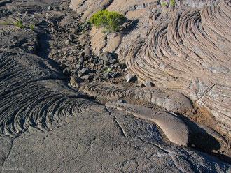 Lave cordée, Enclos du Piton de la Fournaise, Ile de la Réunion