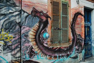 Toulouse, murs graffés
