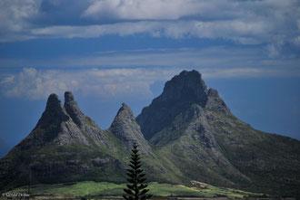 Ile Maurice, volcan de la montagne des 3 mamelles
